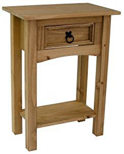 Picture of Corona 1 Drawer Console Table Light Fiesta Wax