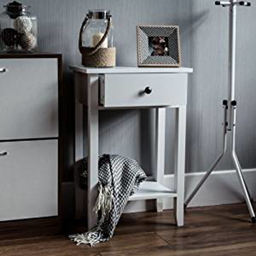 Picture of Vida Designs Windsor 1 Drawer Console Table With Shelf