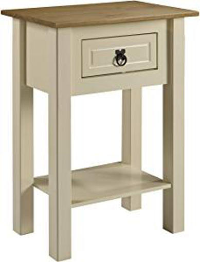 Picture of Mercers Furniture Corona Cream Painted 1 Drawer Console Table - pine - 52 x 32 x 73 cm