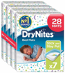 Picture of Huggies DryNites Disposable Bed Mats Mattress Protector 28 Mats Total (4 Packs o