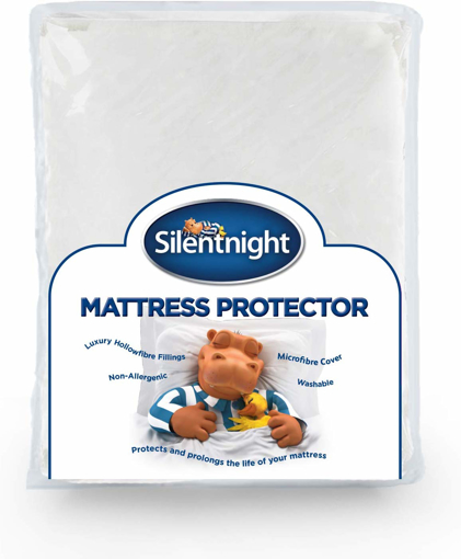 Picture of Quilted Mattress Protector Plus, White, Double