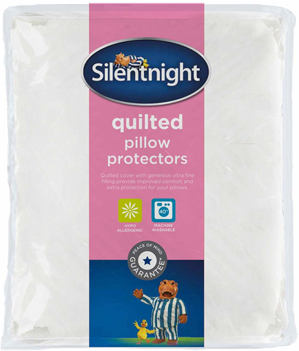 Picture of Quilted Pillow Protector Plus, White, Pack of 2