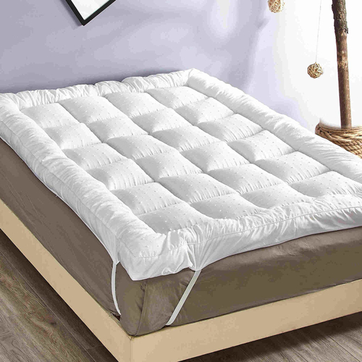 Picture of Microfibre Single Bed Mattress Topper Protector,