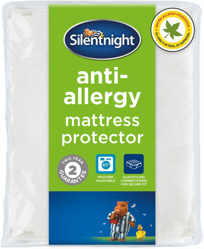 Picture of Anti Allergy Mattress Protector Plus, White, Double