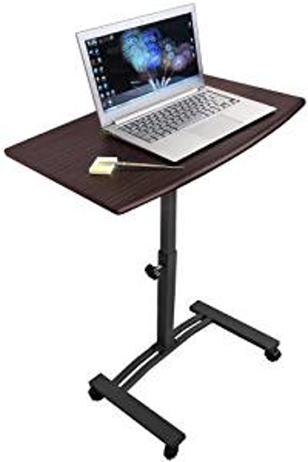 Picture of Tatkraft Salute Mobile Laptop Stand Desk Adjustable Height 52-84cm 4 casters (with locking device)