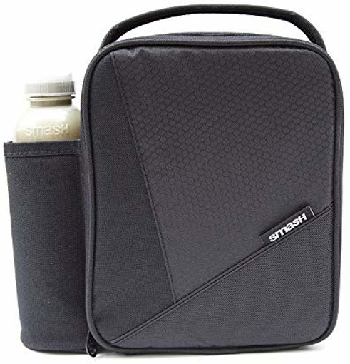 Picture of Black Insulated Lunch Bag and 500ml bottle