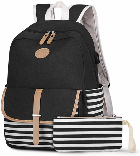 Picture of French Breton Nautical Striped Backpack