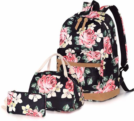 Picture of School Bags Backpack Set Teen Girls Bookbag