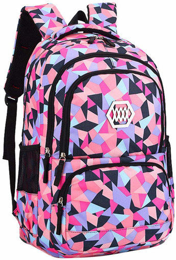 Picture of Geometric Prints Primary School Student Satchel Backpack
