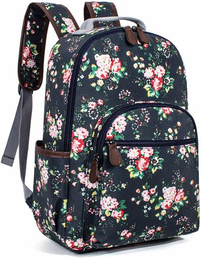 Picture of Floral Waterproof School Backpack Travel Bag