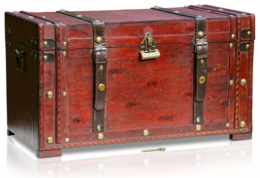 Picture of wooden pirate treasure chest | decorative
