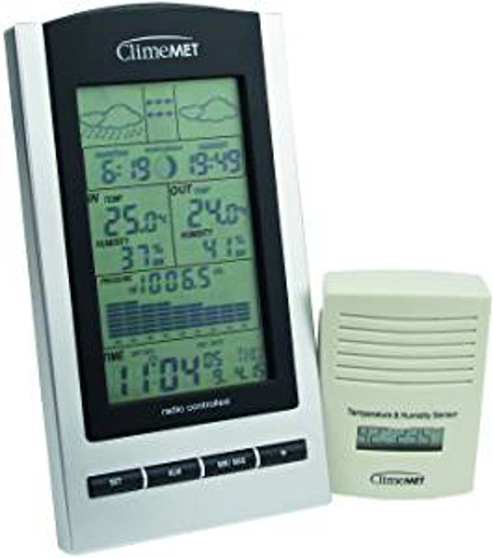 Picture of ClimeMET CM9088 New & Improved Digital Wireless Weather Station Now with Moon Phase - Sunrise & Sunset Times
