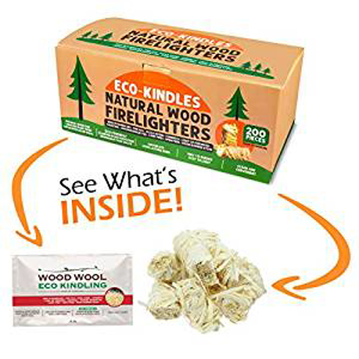 Picture of ECO-KINDLES NATURAL WOOD FIRELIGHTERS - 200 Fire Starter Eco Friendly Wood