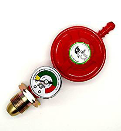 Picture of Igt 37Mbar Propane Gas Regulator With Pressure Gauge