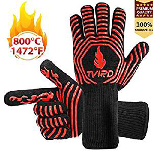 Picture of BBQ Gloves Extreme Heat Resistant - Tvird Oven Gloves BBQ Grilling Gloves
