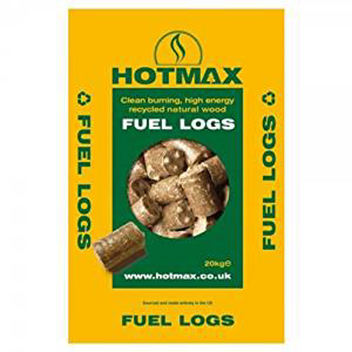 Picture of Hotmax Recycled Natural Wood Fuel Logs - 20 kg
