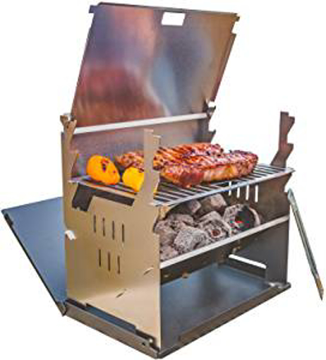 Picture of FENNEK portable picnic grill I Charcoal grill for outdoor BBQ while camping - fishing and much more.