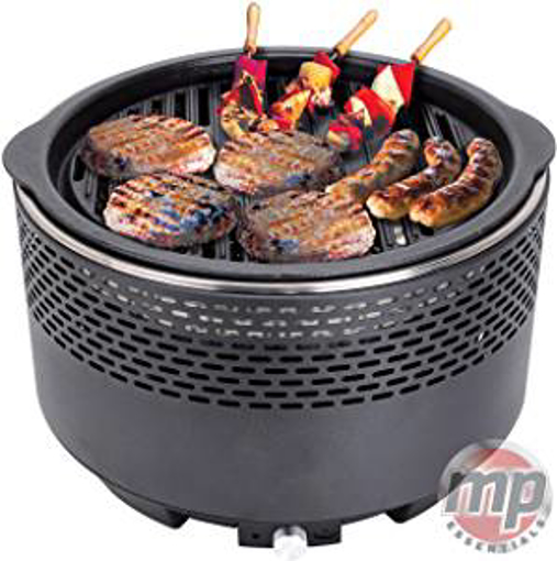 Picture of MP Essential Black Portable Charcoal Barbecue Table Camping Caravan Picnic Outdoor BBQ Grilling Yoga Grill