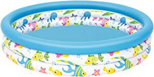 Picture of Bestway BW51009 48 x 10 Inch Ocean Life Kids Paddling Pool - Multi-Coloured