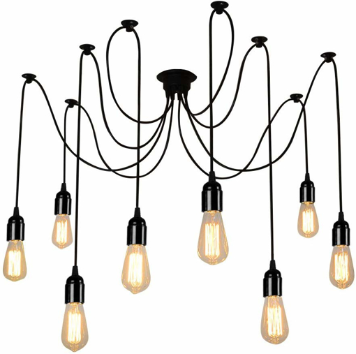 Picture of E27 Loft Antique Chandelier Modern Chic Industrial Dining Light