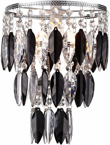 Picture of Black Sparkly Lamp Shade for Ceiling Fitting Modern Chandelier Decoration