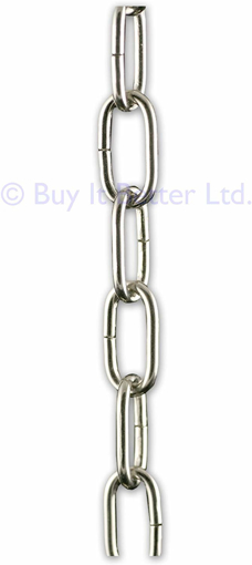 Picture of 2m Chrome Open Link Chain - for Chandelier & Lighting