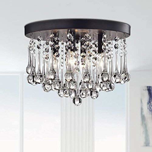 Picture of Modern K9 Crystal Raindrop Chandelier Lighting Flush mount LED