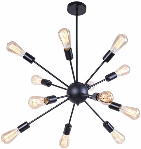 Picture of 12-Light Sputnik Chandelier Light Vintage Pendant Hanging Lamp