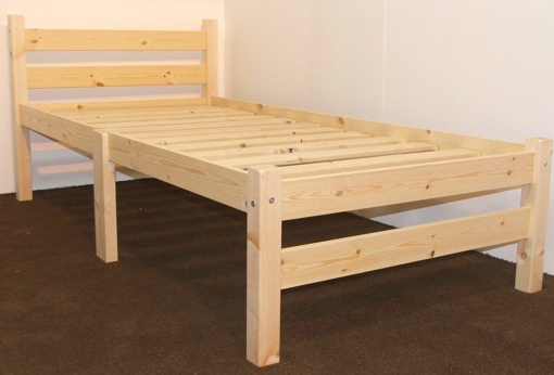 Picture of Heavy Duty Single 3ft Wooden Pine Bed Frame