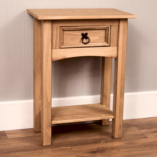 Picture of Corona Console Table, 1 Drawer with Shel