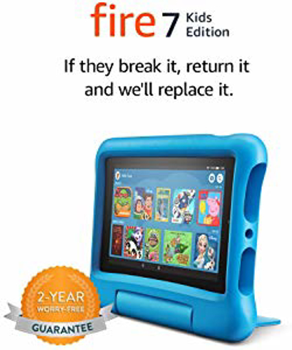 "Picture of All-new Fire 7 Kids Edition Tablet | 7"" Display - 16 GB - Blue Kid-Proof Case"