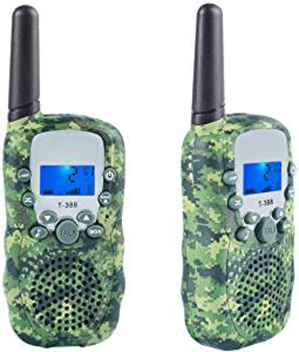 Picture of Coolzon Walkie Talkie Kids with 3km Long Distance Range - 2 Pcs Walky Talky Two Way Radio With Backlit LCD Flashlight for Camping Hiking Biking
