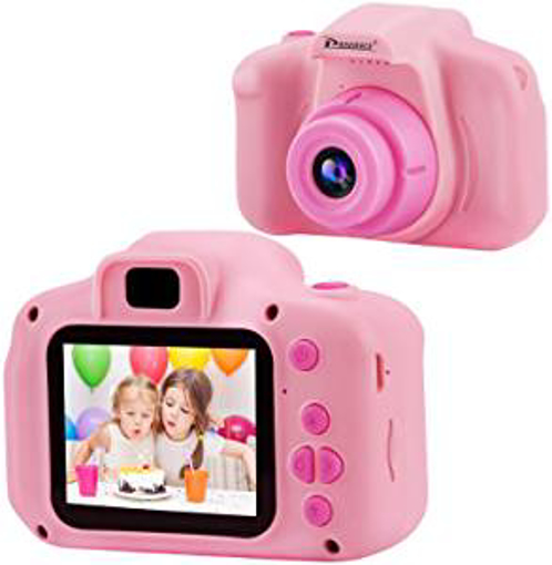 Picture of Prograce Kids Camera Children Digital Cameras for Girls Birthday Toy Gifts 4-12 Year Old Kid Action Camera Toddler Video Recorder 1080P IPS 2 Inch