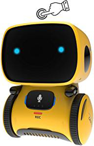 Picture of GILOBABY Smart Robot Toys for Kids Children - Boys Girls Toys for 3 Years Old Up - Gifts Intelligent Educational Robotic Toy - Voice Control&Touch Sense - Dance&Sing&Walk  - Recording&Speak Like You