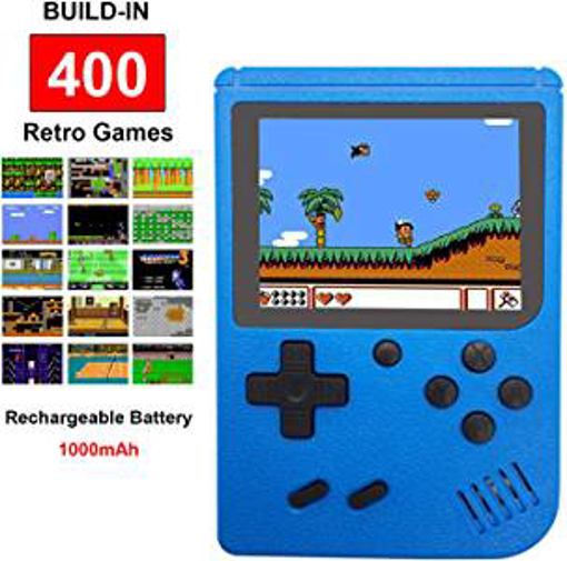 Picture of Fiotasy Handheld Retro FC Games Consoles with 400 NES Classic Games - Portable Gameboy 3 Inch Color Screen 1000mAh Rechargeable Battery TV Output Birthday for Kids Boys Girls Men Women