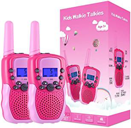 Picture of Kearui Toys for 3-12 Year Old Girls - Walkie Talkies for Kids 8 Channels 2 Way Radio Toy with Backlit LCD Flashlight - 3 Miles Range for Outside Adventures - Camping - Hiking