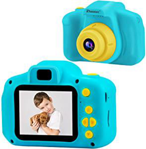 Picture of Prograce Kids Camera Children Digital Cameras for Boys Girls Birthday Toy Gifts 4-12 Year Old Kid Action Camera Toddler Video Recorder 1080P IPS 2 Inch