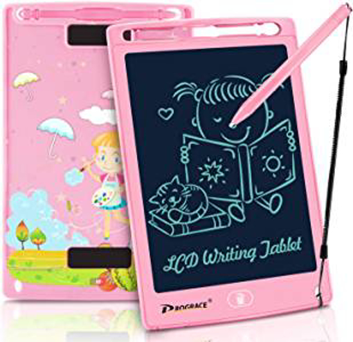Picture of PROGRACE LCD Writing Tablet for Kids Learning Writing Board LCD Writing Pad Smart Doodle Drawing Board Portable Electronics Digital Handwriting Pads 8.5 Inch