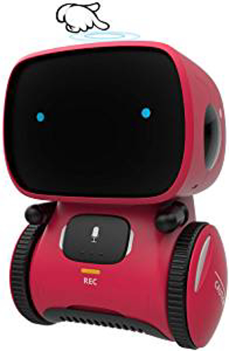 Picture of GILOBABY Kid Intelligent Robot Toys- Voice& Touch Control - Children Smart Robotic Toys for Girls - Toys Gift for age 3-9 year old birthday- Girls Boys- Dance&Sing&Walk - Recorder&Speak Like You
