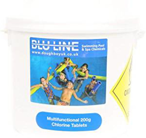 Picture of 5 kg multifuncional 200g large chlorine tablets for swimming pools