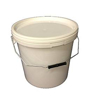 Picture of 5 X 15 LITRE PLASTIC BUCKETS WITH LIDS - DURABLE - GLOSSED - HARD WEARING BUCKET
