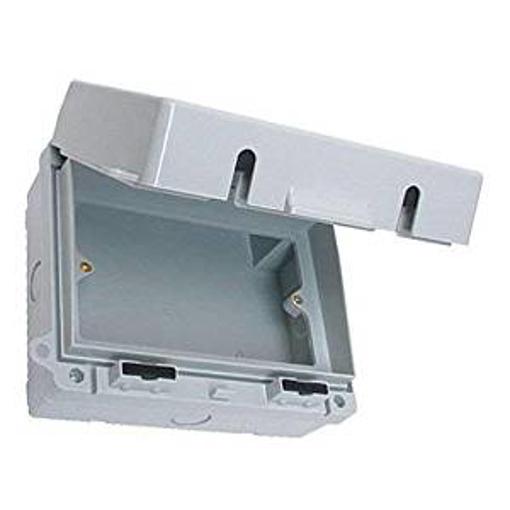 Picture of Europa IP55 2 Gang Empty Weatherproof Outdoor Lockable Enclosure Box