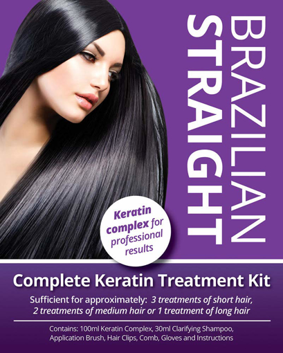 Picture of Brazilian Straight - Keratin Home Use Treatment Kit - Salon Quality Hair / Blow