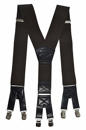 Picture of Mens XXL Extra Wide Heavy Duty X Shape Braces Suspenders with 6 Clips Design