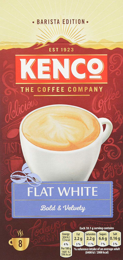 Picture of Kenco Flat White Instant Coffee Sachets - Pack of 5 - 40-Count