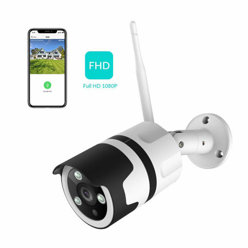 Picture of Netvue Vigil 1080P Bullet Camera - Works with Alexa - Outdoor Security Camera WiFi