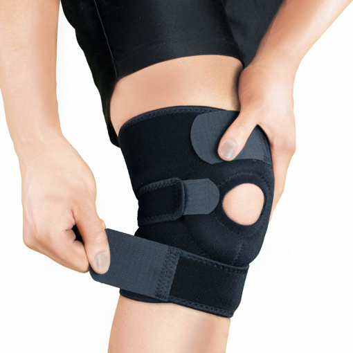 Picture of Bracoo Knee Support - Open-Patella Stabiliser - Adjustable Brace - Neoprene Sleeve