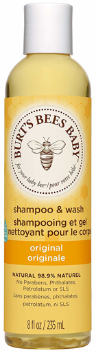 Picture of Shampoo and Wash Baby Bee No Tears Burts Bees Original 99.9% Natural 235 ml