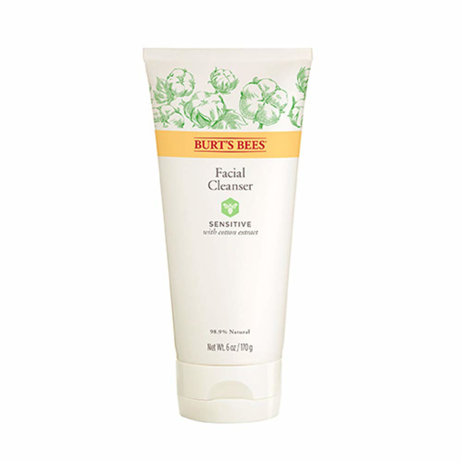 Picture of Burt's Bees Organic SENSITIVE Facial Cleanser With Cotton Extract 170g Face Wash