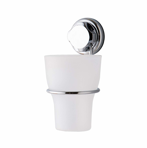 Picture of Compactor Bestlock Suction No Drilling Wall Mountable Toothbrush Holder With Cup